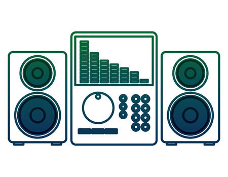 music audio player with speakers vector illustration design