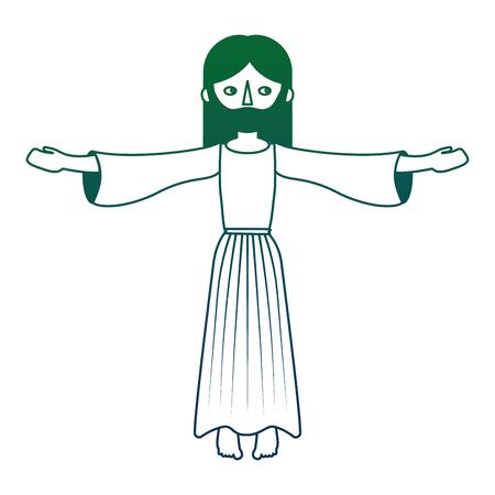 jesuschrist catholic religion character vector illustration design