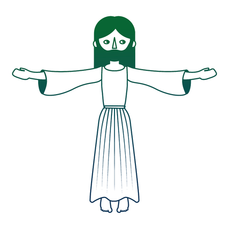 jesuschrist catholic religion character vector illustration design