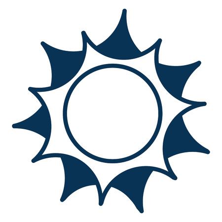 太陽気候夏のアイコンベクトルイラストデザイン  イラスト・ベクター素材