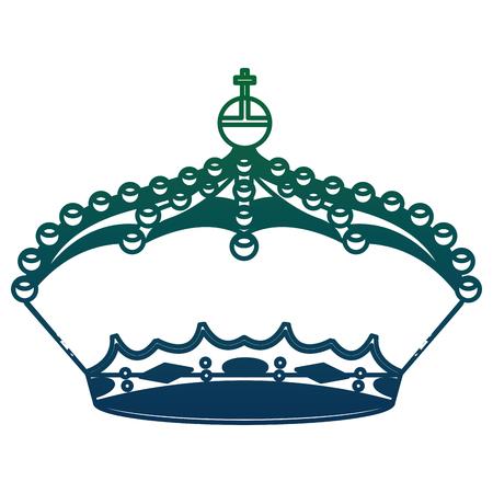 crown monarchy king icon vector illustration design