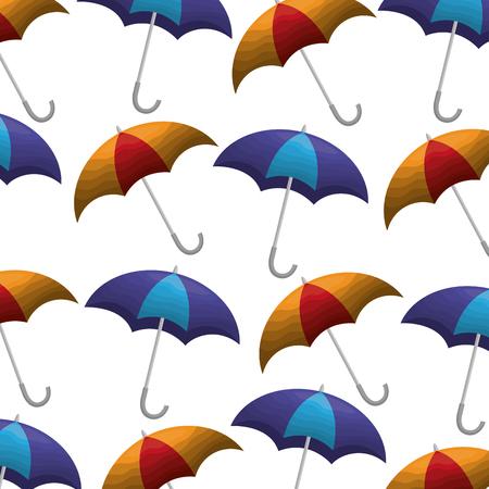 umbrellas open pattern background vector illustration design Illusztráció