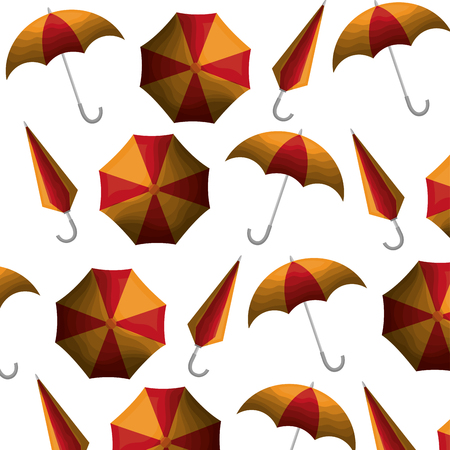 umbrellas open pattern background vector illustration design Stock fotó - 99013629
