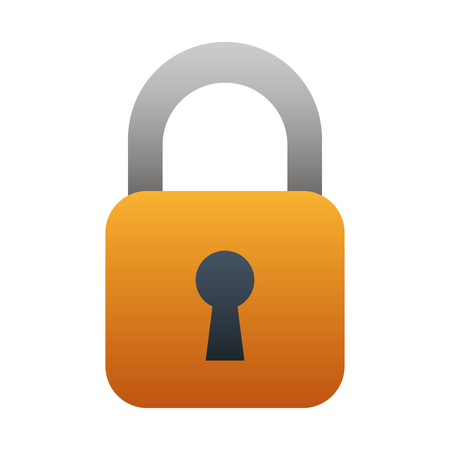 security padlock isolated icon vector illustration design Ilustrace