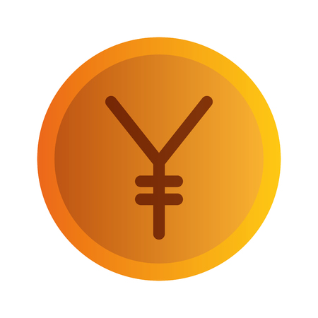 yen coin isolated icon vector illustration design