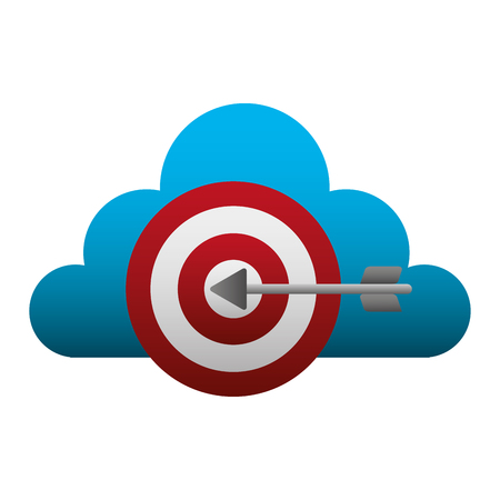cloud computing with target vector illustration design
