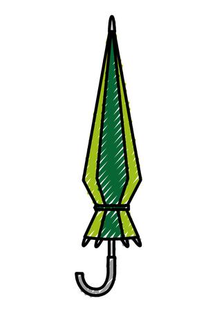 umbrella closed isolated icon vector illustration design Ilustrace