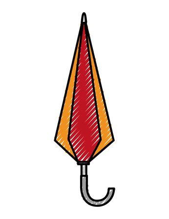 umbrella closed isolated icon vector illustration design Vettoriali