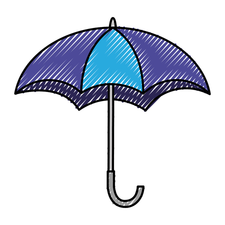 umbrella open isolated icon vector illustration design Stock fotó - 99013917