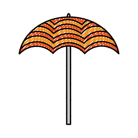umbrella open isolated icon vector illustration design Archivio Fotografico - 99013918