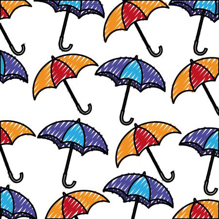 umbrellas icon pattern background vector illustration design Ilustrace