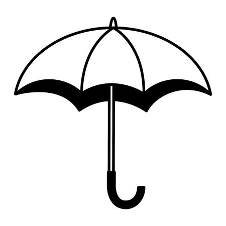 umbrella open isolated icon vector illustration design Çizim