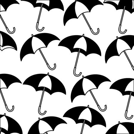 umbrellas icon pattern background vector illustration design Archivio Fotografico - 99012006