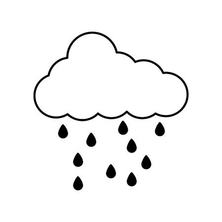 雨滴ベクトルイラストデザインと雲の気象気候