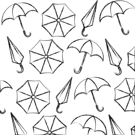 umbrellas icon pattern background vector illustration design Ilustracja