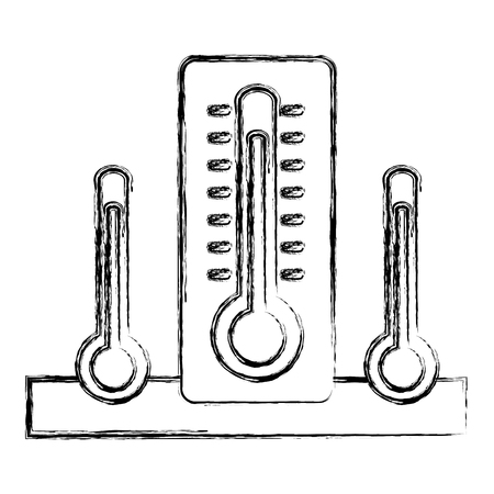 thermometers measure temperature icon vector illustration design