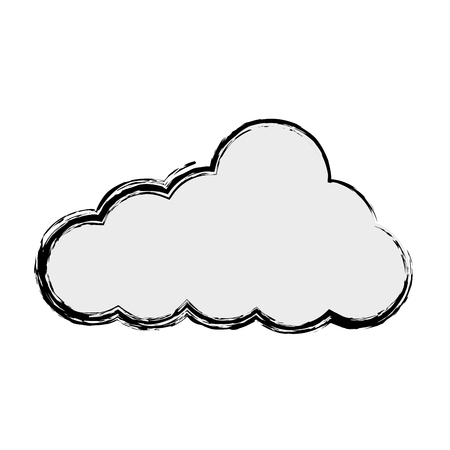 cloud weather climate icon vector illustration design Illustration
