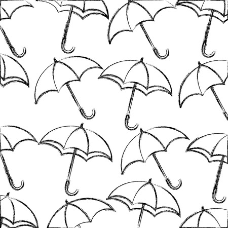 umbrellas icon pattern background vector illustration design Ilustrace