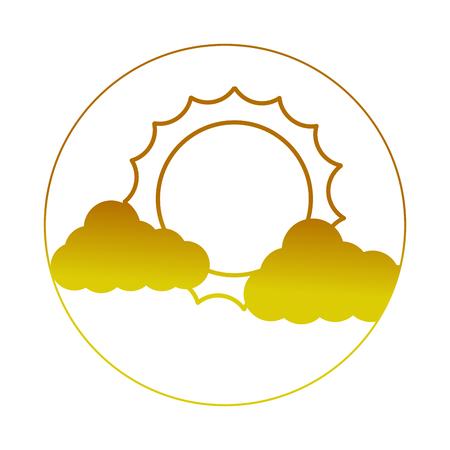 태양 벡터 일러스트 레이 션 디자인 구름 날씨 기후 스톡 콘텐츠 - 99014081