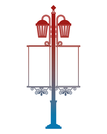 錬鉄製ランタンストリートベクトルイラストデザイン  イラスト・ベクター素材