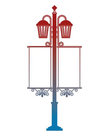 wrought iron lantern street vector illustration design Illustration