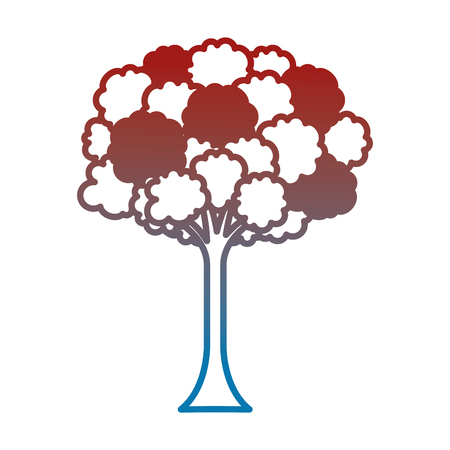 leafy tree isolated icon vector illustration design 일러스트