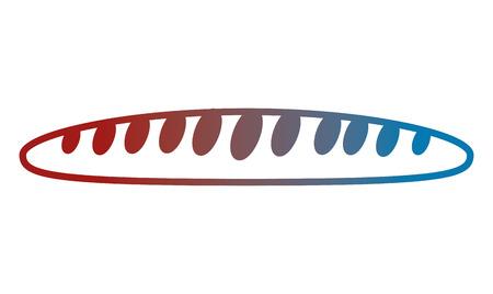 french bread delicious icon vector illustration design 向量圖像