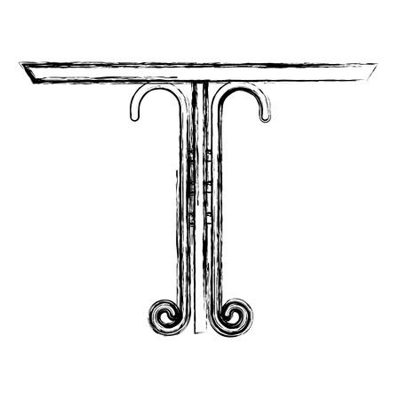 Fer forgé table icône illustration vectorielle conception Banque d'images - 99015245