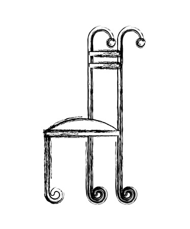 Fer forgé chaise icône illustration vectorielle conception Banque d'images - 99014231