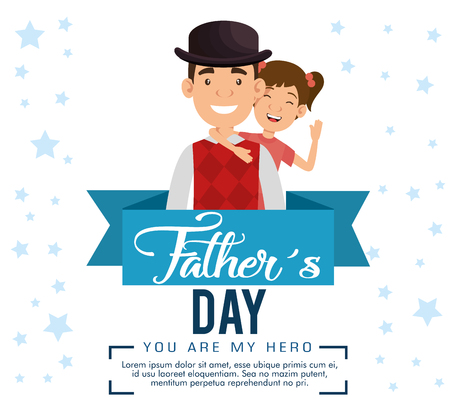 best father with daughter avatars vector illustration design Фото со стока - 99127952