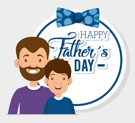 best father with son characters vector illustration design