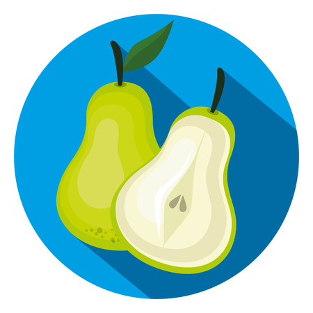 Fresh pear healthy fruit vector illustration design