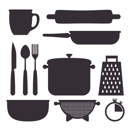 Küchenutensilien Utensilien Icons Vektor-Illustration Design Standard-Bild - 99163188