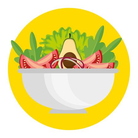 Kochtopf mit frischem und Bio-Gemüse Vektor-Illustration-design Standard-Bild - 99187600