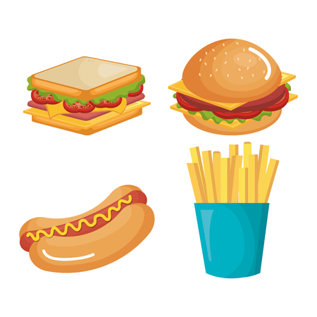 fast food product icons vector illustration design Ilustrace