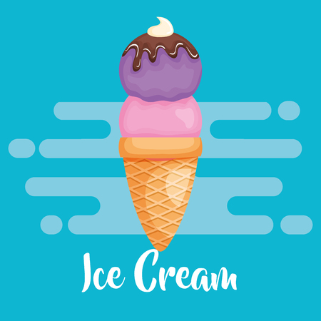 delicious ice cream icon vector illustration design