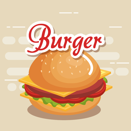 delicious burger fast food icon vector illustration design