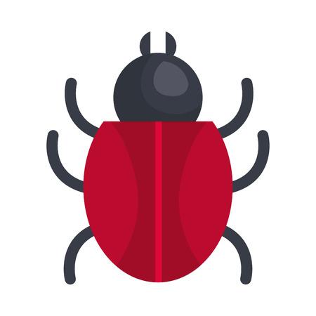 バグ昆虫隔離アイコンベクトルイラスト設計
