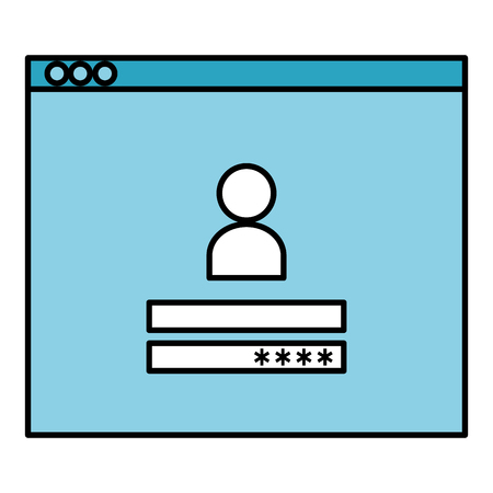 access template login icon vector illustration design  イラスト・ベクター素材