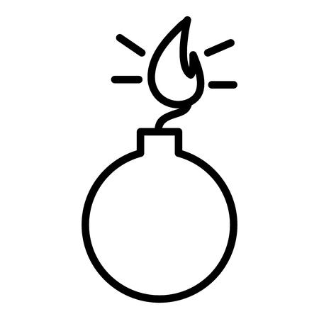 Boom explosief geïsoleerd pictogram vector illustratie ontwerp