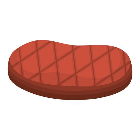 viande boeuf isolé icône du design illustration vectorielle Vecteurs