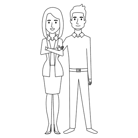 business couple avatars characters vector illustration design Stock Vector - 99238920