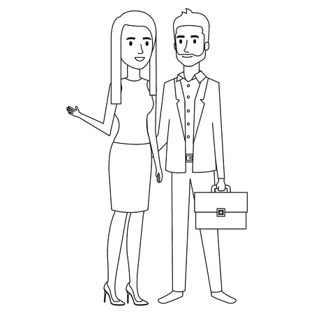 business couple avatars characters vector illustration design Stock Vector - 99227206