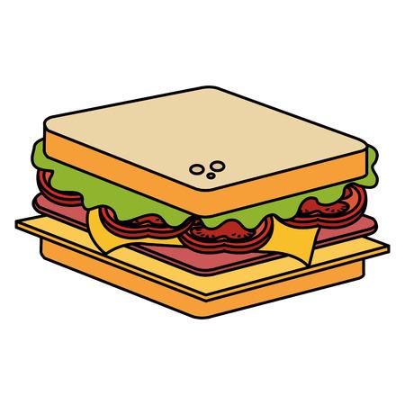 おいしいサンドイッチファーストフードアイコンベクトルイラストデザイン 写真素材 - 99230231