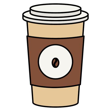 コーヒープラスチックカップアイコンベクトルイラストデザイン
