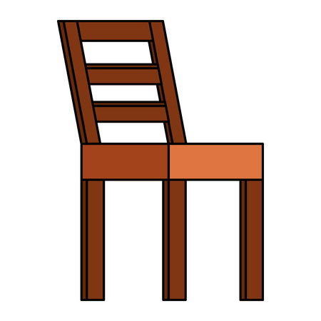Wooden chair isolated icon vector illustration design Stock Illustratie