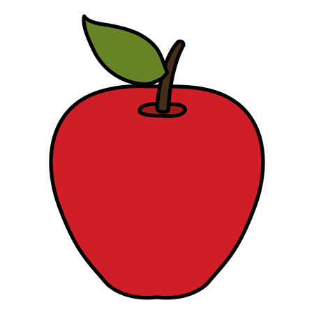 apple fresh fruit icon vector illustration design  イラスト・ベクター素材