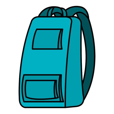 Hand drawn school bag isolated icon vector illustration design Ilustração