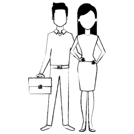 business couple avatars characters vector illustration design Stock Vector - 99257523