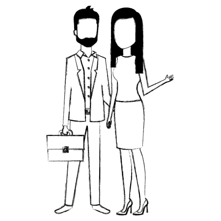 business couple avatars characters vector illustration design Stock Vector - 99257532